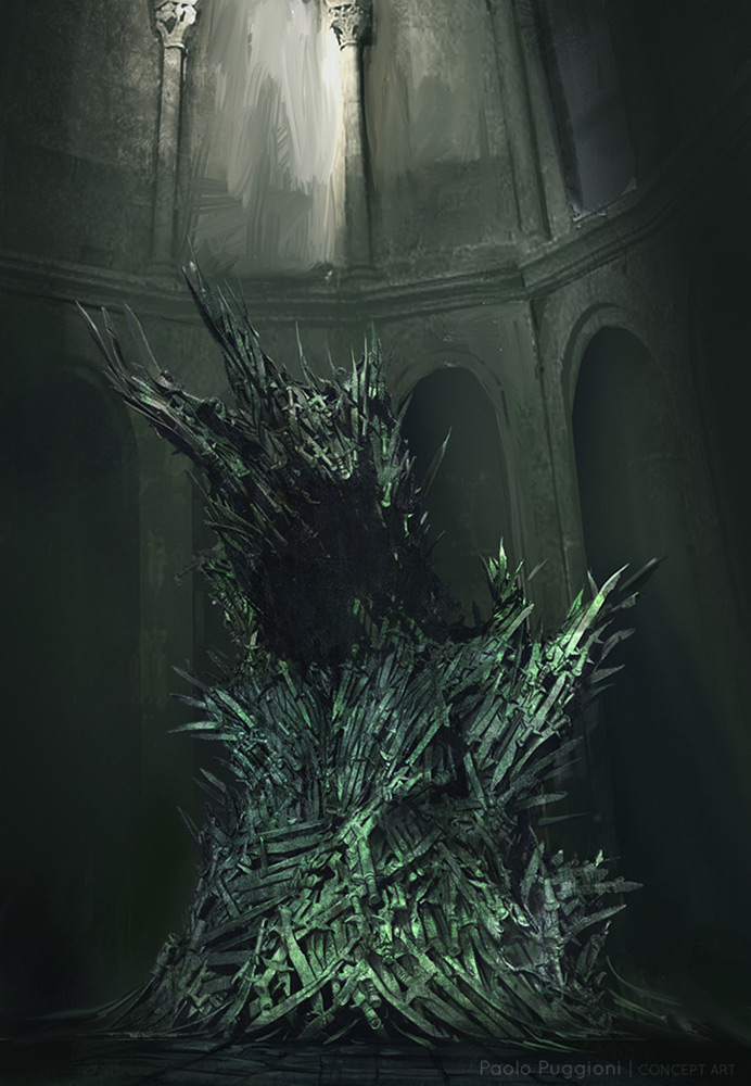 Props paolo puggioni concept art illustration for Iron throne painting