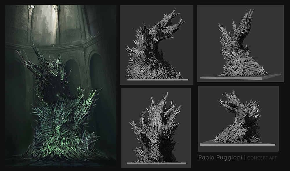 The gallery for game of thrones concept art for Iron throne painting