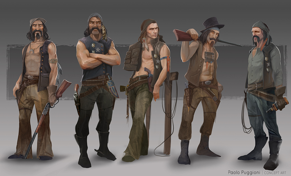 Western Gang - Paolo Puggioni - Concept Art & Illustration ...